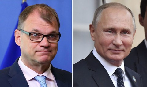 Finnish Prime Minister Juha Sipilä and Russian President Vladimir Putin. Photos: Getty Images