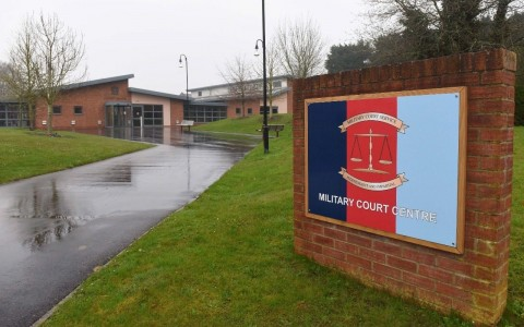 The Military Court Center in Bulford, Wilts. Photo: Solent News & Photo Agency