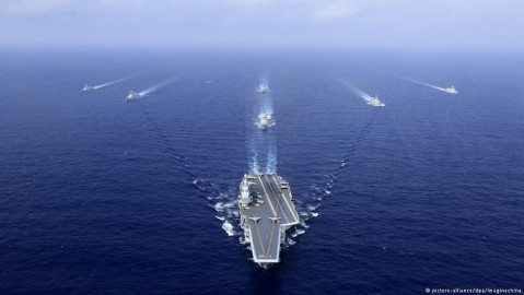 China moves into the Western Pacific with a carrier group that augurs even bigger naval forces in the future. Photo: dpa/Imaginechina