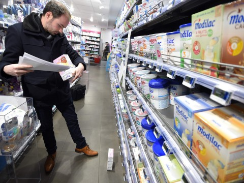 French dairy company recalls 12 million boxes of baby milk from 83 countries in salmonella scandal