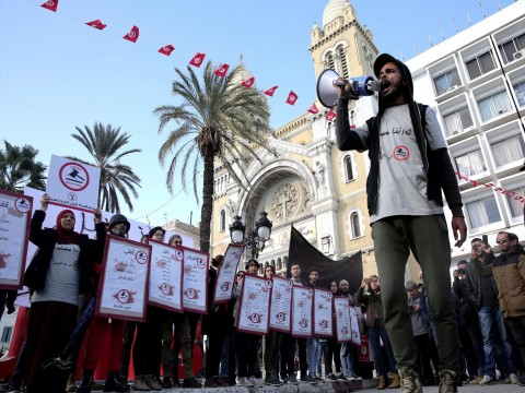 Tunisia sees fresh protests as it marks seven years since Arab Spring uprising