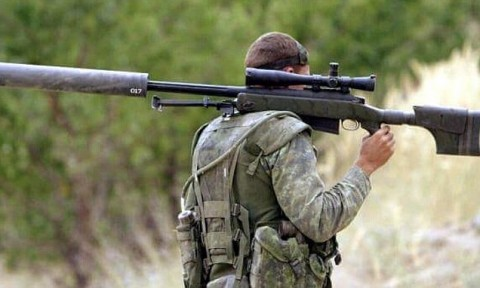 A British sniper has killed a senior ISIS fighter with a 'one in a million' shot from a mile away using a US-made McMillan TAC-50 sniper rifle. File photo