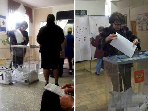 Russians seen voting multiple times 'could be twins', election officials say