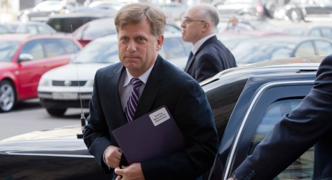 US Ambassador to Russia Michel McFaul arrives at Foreign Ministry headquarters in Moscow on Wednesday, May 15, 2013. Photo: AP
