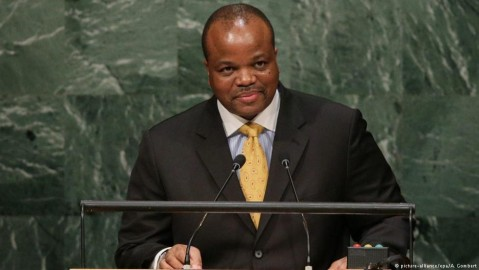 King Mswati III at the UN headquarters in New York. Photo: A. Gombert / epa