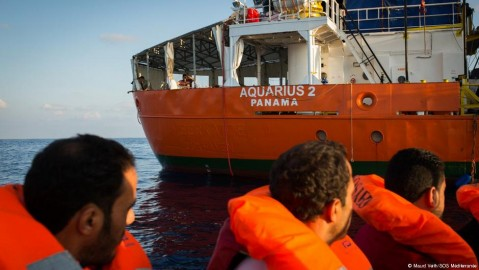 Migrant ship Aquarius 2. Photo: Maud Veith / SOS Mediterranee